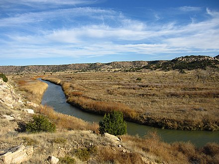 A view of the arid high plains in Southeastern Colorado Picketwire Canyon.jpg