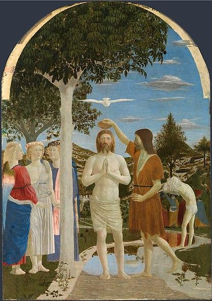 Bautismo de Cristo por Piero della Francesca