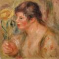 Pierre-Auguste Renoir FEMME À LA ROSE.PNG
