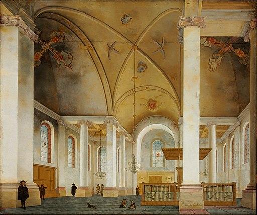 Pieter Saenredam - The Nieuwe Kerk in Haarlem - Google Art Project