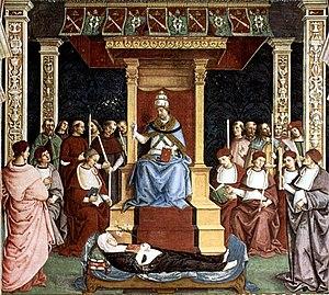 Canonization - Pope Pius II canonizes Catherine of Siena