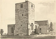 'The Church in 1733 as drawn by Samuel Hieronymus Grimm.