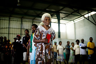 2012 Vanuatuan general election - Voters at a polling station on election day.
