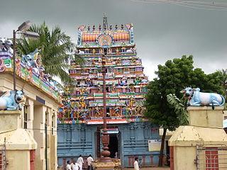 Thiruthuraipoondi Town in Tamil Nadu, India