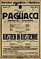 Plakat za predstavi Pagliacci in Bastien in Bastienne v Narodnem gledališču v Mariboru 1. decembra 1926.jpg
