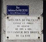 Plaque à la mémoire d'Ardutius de Faucigny, Genève.jpg