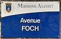 Plaque Avenue Foch - Maisons-Alfort (FR94) - 2021-03-22 - 1.jpg