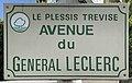 Plaque Avenue Général Leclerc - Le Plessis-Trévise (FR94) - 2021-05-08 - 1.jpg