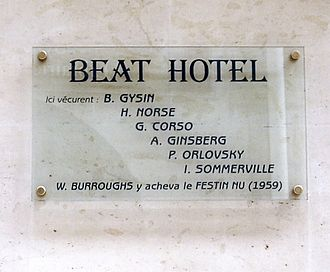 Brion Gysin - Image: Plaque Beat Hotel, 9 rue Gît le Cœur, Paris 6