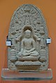 Plaque Showing Seated Buddha Inside Temple - Terracotta - ca 12th Century CE - Pala Period - Bodhgaya - ACCN BG 148-A20567 - Indian Museum - Kolkata 2016-03-06 1702.JPG