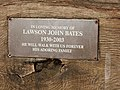 Plaque on rustic style seat at Trimpley Reservoir - geograph.org.uk - 1577169.jpg