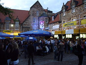 The Pleasance Courtyard during the Edinburgh F...