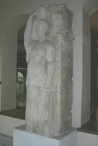 Oescus - A caryatid from Ulpia Oescus at the Pleven history museum