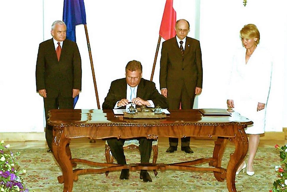 Podpisanie traktatu UE