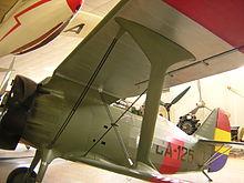 Il Polikarpov I-15 Chato esposto al Museo del Aire di Madrid.