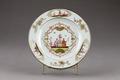 Porslinstallrik gjord i Kina på 1700-talet - Hallwylska museet - 96076.tif