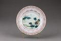 Porslinstallrik gjort i Kina på 1700-talet - Hallwylska museet - 96121.tif