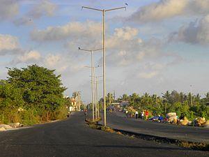 Port Road, Kollam - Under construction Port Road in Kollam
