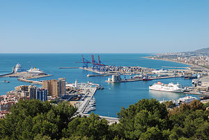 Port of Málaga - Image: Port of Málaga, Northeast view 20090412 1