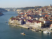 Douro river crossing Grande Porto, Portugal's second most populated subregion