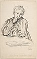 Portrait of Eline Marie Heger as a Child, Leaning on a Table, Looking at a Book MET DP800031.jpg