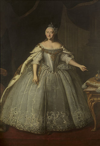 Ivan Vishnyakov - Image: Portrait of Empress Elizaveta Petrovna by Ivan Vishnyakov
