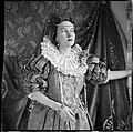 Portrait of Patricia Chinnery, wearing a National Theatre costume, The Grange, Brighton, Victoria, ca. 1942, 3 - Sarah Chinnery (10299782343).jpg
