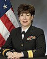 Portrait of US Navy Rear Admiral (lower half) Karen A. Flaherty.jpg