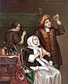 Porzellanbild Arzt besucht eine Kranke.jpg