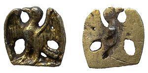 Cap hook - Image: Post medieval silver gild dress hook. (Find ID 442786)