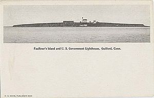 Falkner Island Light - 1904 postcard
