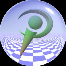 Povray logo sphere