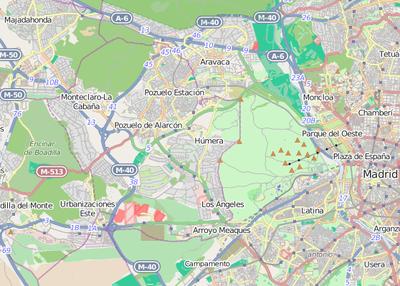 Pozuelo De Alarcon Mapa.Plantilla Mapa De Localizacion De Pozuelo De Alarcon