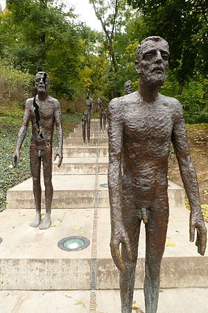 Olbram Zoubek - 2002 Memorial to the Victims of Communism in Prague is the work of Olbram Zoubek and architects Jan Kerel and Zdeněk Holzel