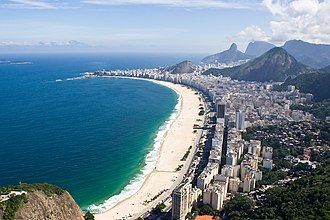 The Amazing Race 27 - The Detour in Rio de Janeiro had teams take part in beach-related tasks on Copacabana Beach.