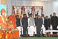 Pranab Mukherjee attends a function during his visit at the Ramakrishna Mission Ashram, at Narayanpur, Chhattisgarh. The Governor of Chhattisgarh, Shri Shekhar Dutt, the Chief Minister of Chhattisgarh.jpg