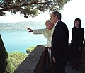President George W. Bush and Mrs. Laura Bush are given a tour by Pope John Paul II.jpg