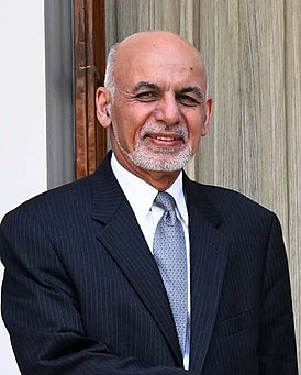 President of Afghanistan, Dr. Mohammad Ashraf Ghani, at Hyderabad House, in New Delhi on September 19, 2018 (cropped).JPG