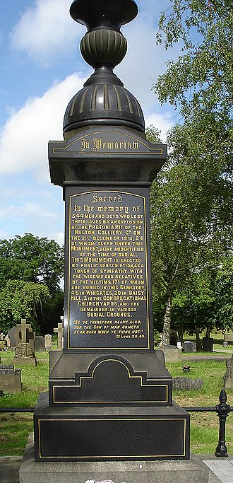 Westhoughton - The original Pretoria Pit Memorial in Westhoughton Cemetery