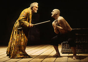 The Sea and the Mirror - Prospero and Caliban from the RSC 1993 production of The Tempest. In Auden's work, Caliban remains to ironically deliver the most refined meditations on art and life.
