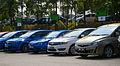 Proton Test Drive Cars (left to right; Suprima S, Persona SV, Prevé CFE, Exora Bold CFE) in Glenmarie, Malaysia.jpg