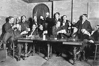 University at Buffalo - 1907 Pub Scene, students singing