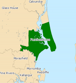 Electoral district of Pumicestone - Electoral map of Pumicestone 2008