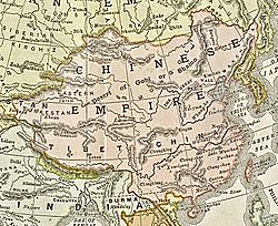Location of Qing Dynasty