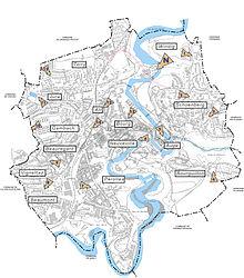 Carte Des Quartiers De Fribourg