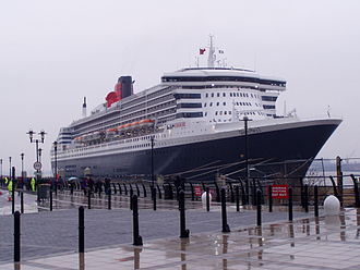 Liverpool Cruise Terminal - Queen Mary 2 at the Liverpool Cruise Terminal