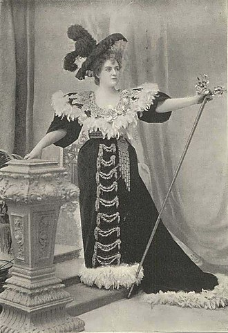 The Queen of Brilliants - Lillian Russell as Betta, The Queen of Brilliants, in the London production (1894).