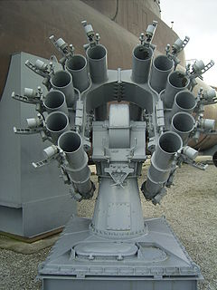 RBU-6000 Soviet anti-submarine rocket launcher