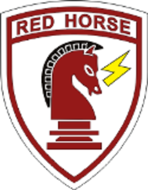 Rapid Engineer Deployable Heavy Operational Repair Squadron Engineers - RED HORSE emblem