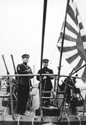 Action of 13 May 1944 - Norita Sadotoshi at the christening of RO-501 in Germany.